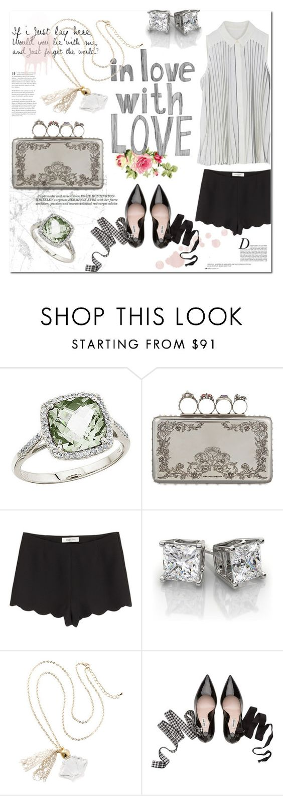 """""""English rose"""" by tuilindo ❤ liked on Polyvore featuring BillyTheTree, Alexander McQueen, Valentino, Anja, Whiteley and Miu Miu"""