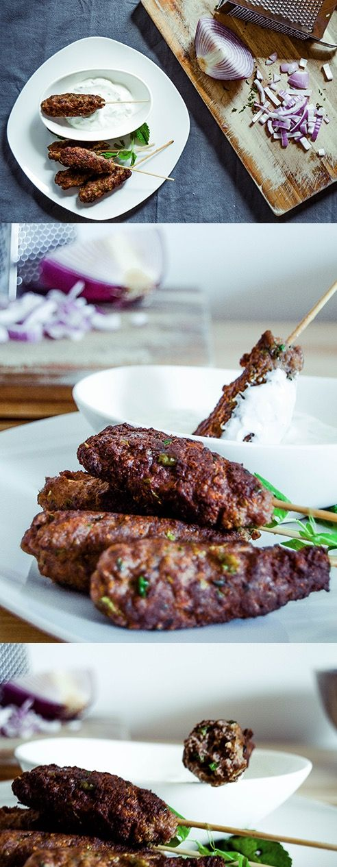 grilled beef kofta with tangy tzatziki sauce | now up on spoontangkitchen.com!