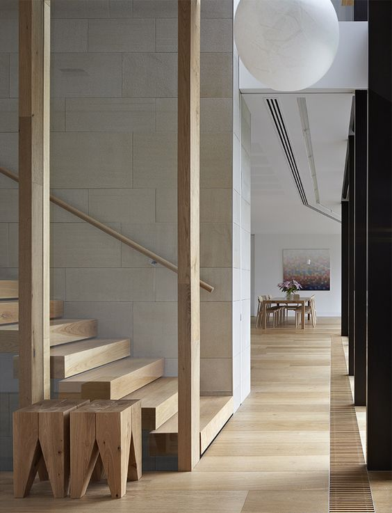 | STAIRS | Image Source: The Cool Hunter - Shrouded House - Toorak, Melbourne - adore the cantilevered wood treads #stairs