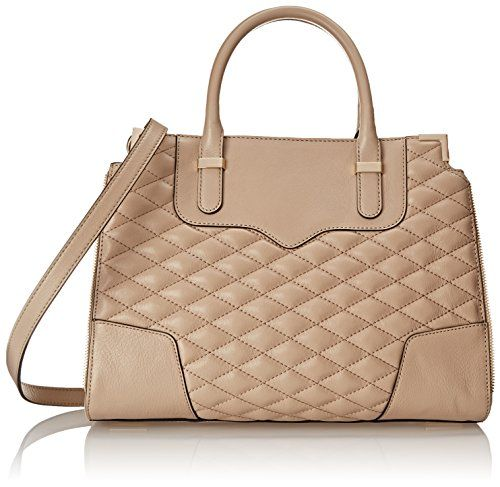 Rebecca Minkoff Quilted Amorous Satchel Top Handle Bag, Khaki ...