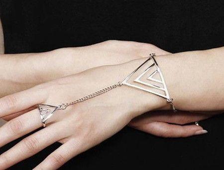 Pulseira Anel Triangulos