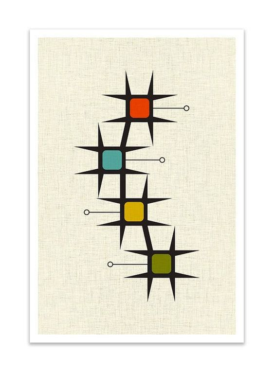 MOVE Giclee Print Mid Century Modern Danish Modern by Thedor