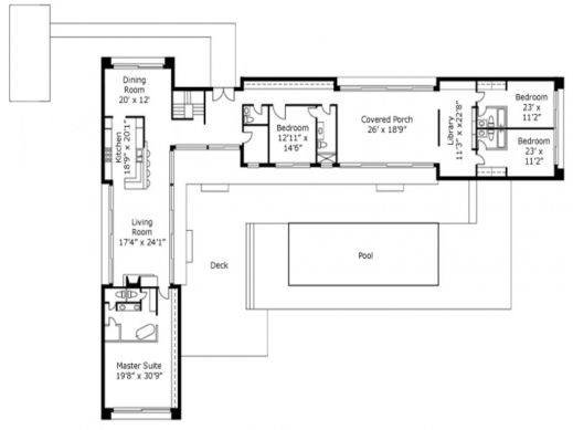 Image Result For L Shaped House Plans Pool House Plans L Shaped House Plans L Shaped House