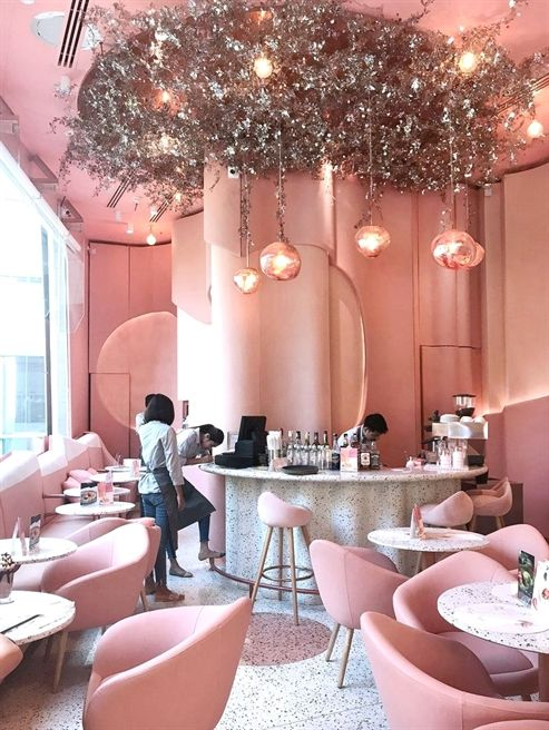 Your Home Feeling Drab Try Some Interior Decorating Changes Pink Interiors Design Pink Cafe Cafe Interior Design