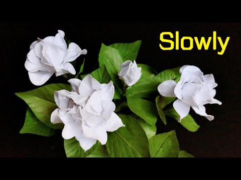 Abc Tv How To Make Gardenia Paper Flower With Shape Punch Slowly Craft Tutorial Youtube In 2020 Paper Flowers Flowers Paper Flower Tutorial