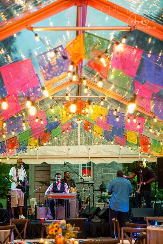 Fiesta mexican backyard fiesta concert party ideas - Mexican themed party decoration ideas ...