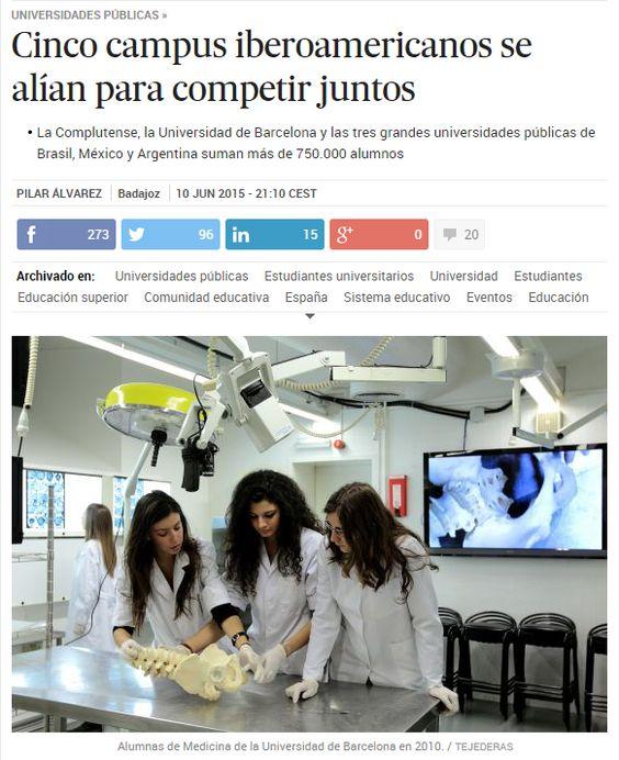 Cinco campus iberoamericanos se alían para competir juntos / @el_pais | #highereducation