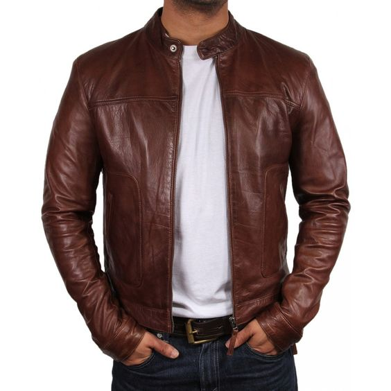 BR Brown Leather Jacket