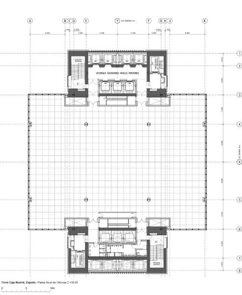 Archivo torre cepsa foster planta visita for Caja duero oficinas madrid
