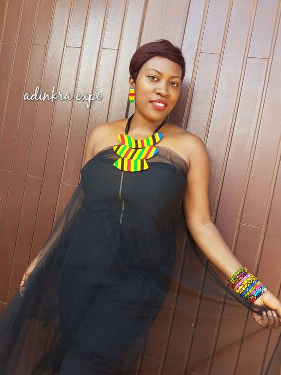 Ankara  Necklace/ African Necklace / African Print Accessories by AdinkraExpo on…