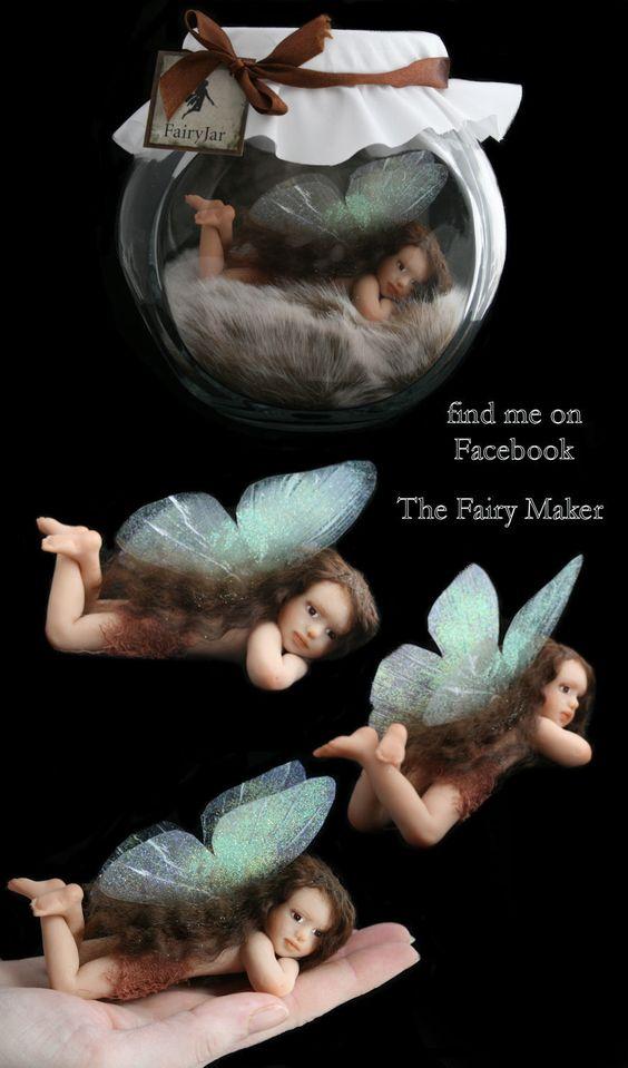 OOAK fairy jar fairies fantasy