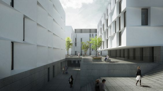 Segundo Lugar no Concurso para a Residência Universitária no Campus da Ajuda / AND-RÉ Arquitectura,Cortesia de AND-RÉ Arquitectura