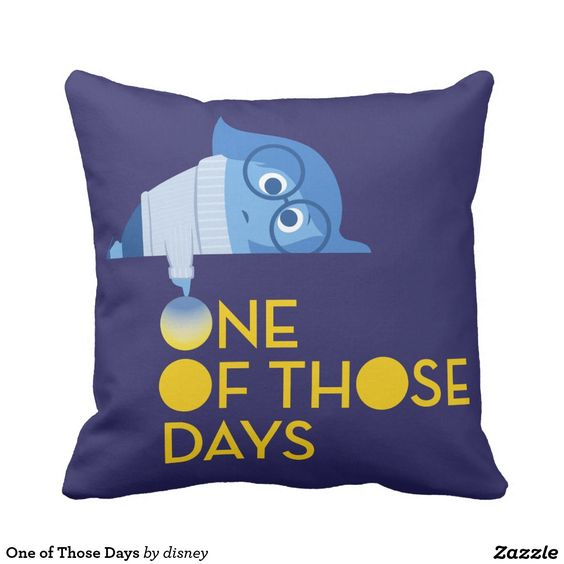 Inside Out - One of Those Days Throw Pillow, home decor, decoración. Regalos, Gifts. #cojín #pillow