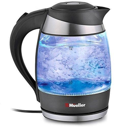 Mueller Austria Electric Kettle With Speedboil Tech Glass Tea Coffee Pot 1 8l Muelleraustria Electric Water Kettle Glass Tea Electric Kettle