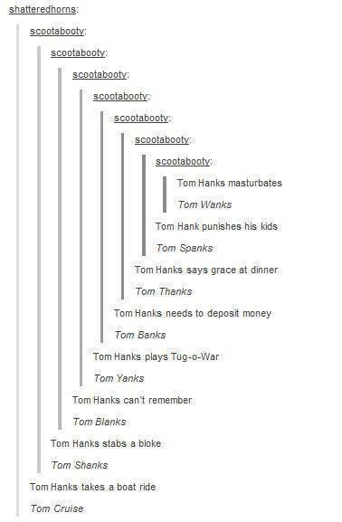 Tom Hanks kills a demon. Tom Ganks