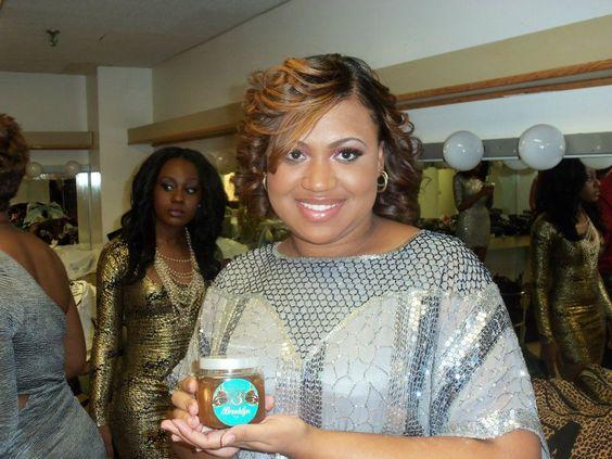 Tiara Dicks, Miss Black NY & Miss Black NJ contestant holding our Coco Cryptonite! #LadiesOfBIB