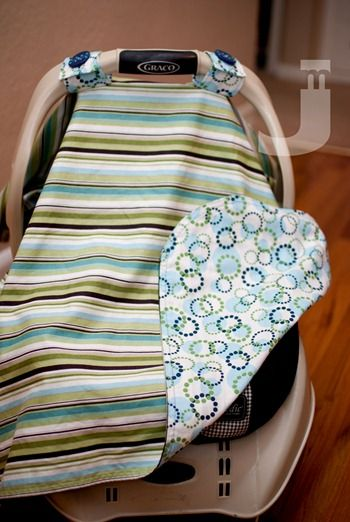 another car seat canopy for a baby shower gift