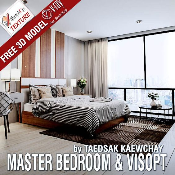 News Very nice Free ‪#‎sketchup‬ model MASTER BEDROOM and ...