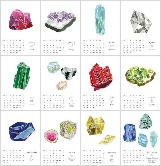Gemstone calendar