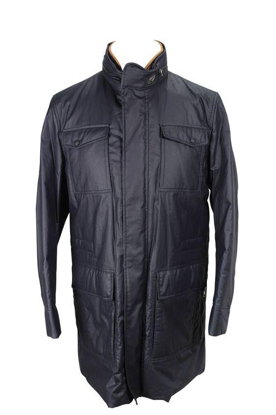 Stay warm outside with this solid blue cotton blend jacket made by Hogan and heavily discounted from the retail price. We take all our own photos to present you with realistic and vivid detail. All items are hand-measured with body measurements to ensure a perfect fit. Need a personal stylist to help you with this Hogan item? Just ask us