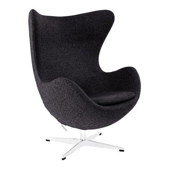 Glove Wool Lounge Chair in Dark Gray   Nebraska Furniture Mart