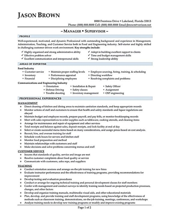 Sample Resume For Restaurant Manage Restaurant Manager