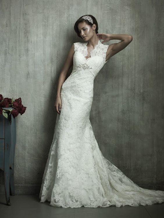 Sweet Vintage Wedding Dress - http://www.ikuzowedding.com/sweet ...