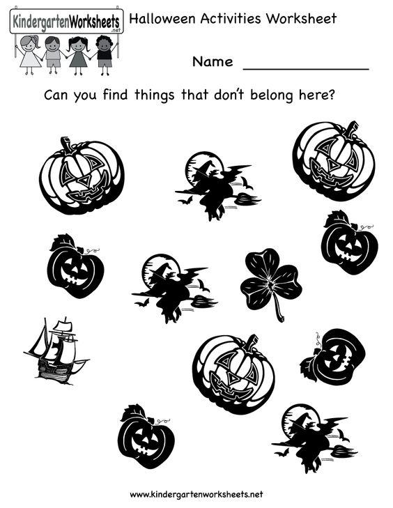 Kindergarten Halloween worksheet | KINDERGARTEN HALLOWEEN ...
