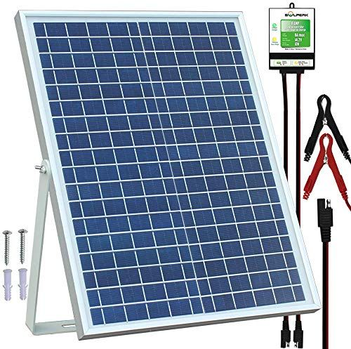 Amazing Offer On Solperk 20w Solar Panel 12v Solar Panel Charger Kit 8a Controller Suitable Automotive Motorcycle Boat Atv Marine Rv Trailer Powersport In 2020 Solar Panels 12v Solar Panel Solar Panel Charger