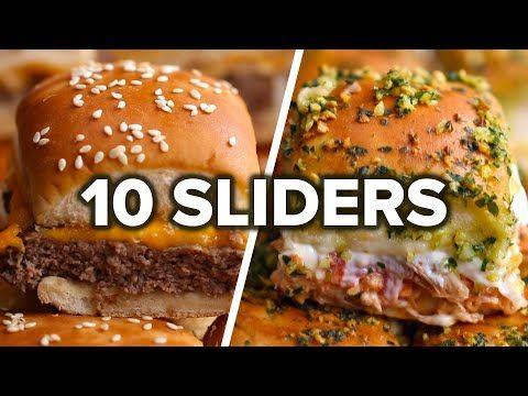 Sliders 10 Ways Youtube Food Slider Recipes Recipes