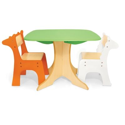 Safari Collection - Tree Table with Giraffe and Zebra Chairs <3