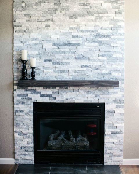 Top 60 Best Stacked Stone Fireplace Ideas Interior Designs