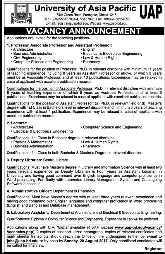 Job Circular At North South University as a Laboratory Officer - human rights officer sample resume