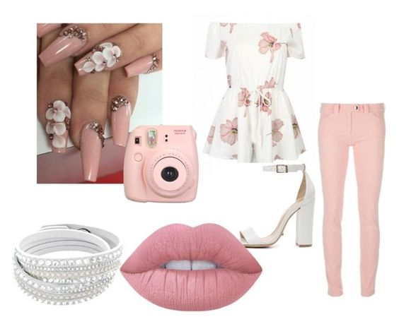 """""""Floral Photographer"""" by wildchild6666 on Polyvore featuring Fujifilm, Balenciaga, Schutz and Lime Crime"""