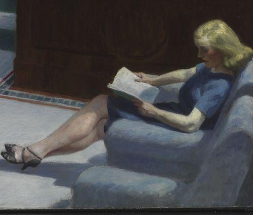 Resultado de imagen de Mujer leyendo Hopper