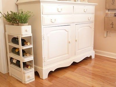 sewing machine drawer wine cabinet