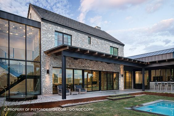 Contemporary farmhouse for the home pinterest modern for Industrial farmhouse exterior