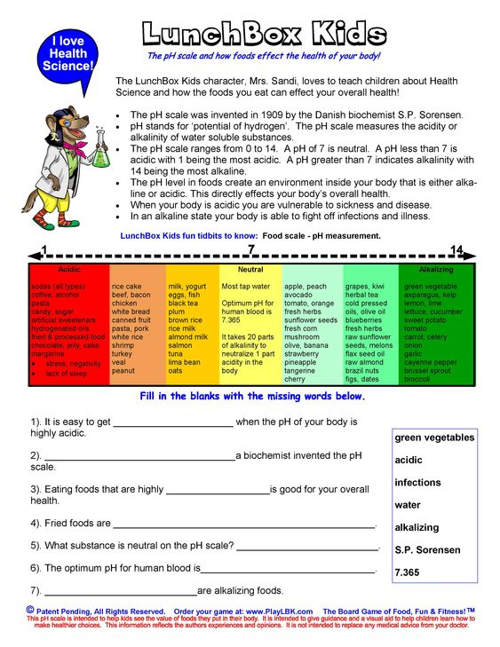 Printables Ph Worksheet lunchbox kids ph scale resource worksheet free teacher worksheet