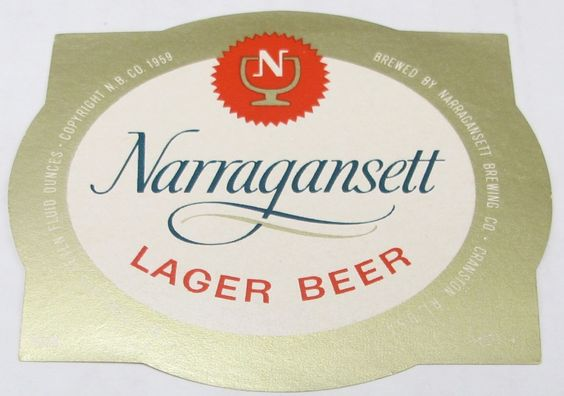 Narragansett lager beer #narragansett brg co #cranston ri #unused 16 oz beer labe,  View more on the LINK: 	http://www.zeppy.io/product/gb/2/222206067659/
