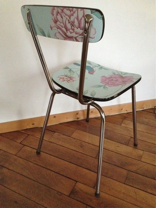 Wood Love Chaise Formica Relookee A Vendre Chaise Formica Chaises Renovees Relooking Meuble