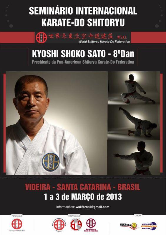 Seminário Internacional Karate-Do Shitoryu com Kyoshi Shoko Sato - Março 2013 Videira - SC - Brasil
