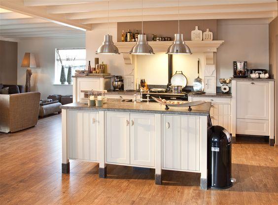 Landelijke keukens voor het leven kitchen pinterest - Keuken uitgerust voor klein gebied ...