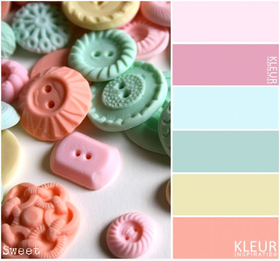 Sweet kleurenpalet pastel knopen in pasteltinten roze for Kleurenpalet interieur