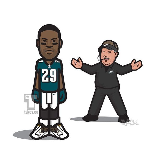 "DeMarco Murray Philadelphia Eagles Tyke. The NFL's leading rusher during the 2014 NFL season, agreed to a contract with the Eagles. The deal is reportedly for 5-years and $42 million with $21 million guaranteed. WHAT DO YOU THINK ABOUT THIS MOVE? (DeMarco's Tyke is wearing the ""Eagle adizero 5-Star 4.0"" #UNCAGED) #DeMarcoMurray #Eagles #adidas #NFL #football #tyke #tykes #MyTyke www.tykes.co"