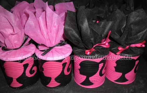 Lembrança Barbie - lata de leite www.facebook.com/aproveitandolata