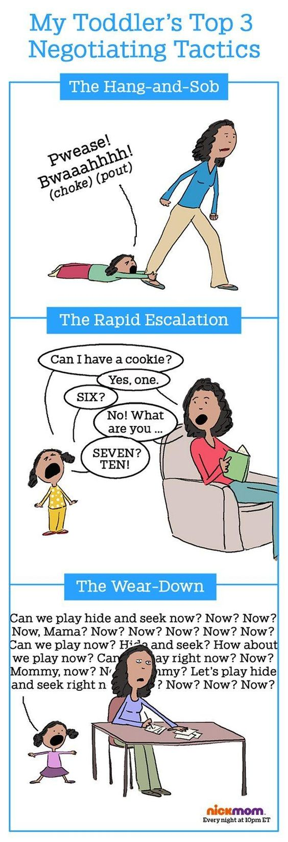 3 Successful negotiation tactics of whining children