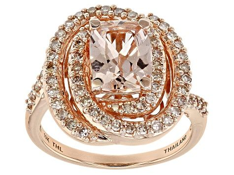 Pink Cor De Rosa Morganite 10k Rose Gold Ring 2 22ctw Drt005 Morganite Jewelry Pink Gemstones Rose Gold Ring