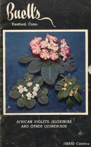 BUELL'S AFRICAN VIOLET, GLOXINIAS, AND GESNERIADS 1959-60 CATALOG