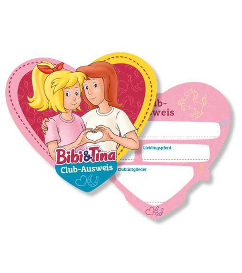 Club Ausweise Bibi Und Tina 6 Stuck Bibi Und Tina Mitgebsel Kindergeburtstag Kindergeburtstag