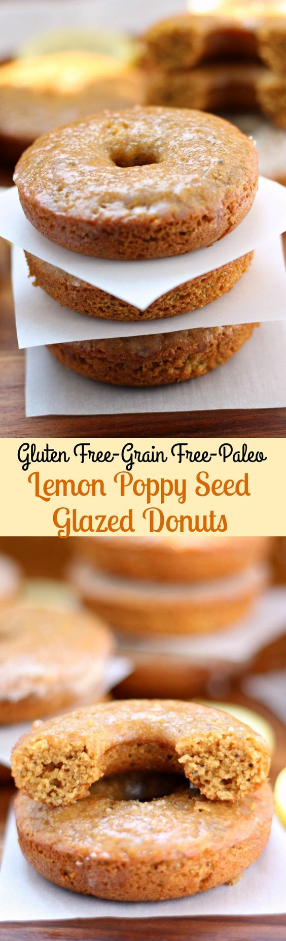 Paleo Lemon Poppy Seed Glazed Donuts | Recipe | Blanched ...
